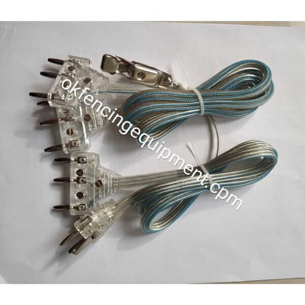 FIE body cord with transparent plug