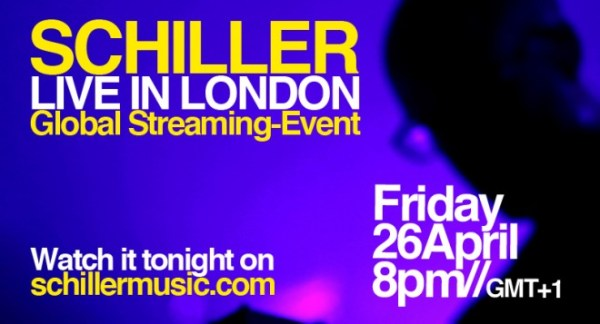 Watch Schiller In London Tonight On The Global Live-Stream
