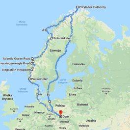 mapa Norwegia