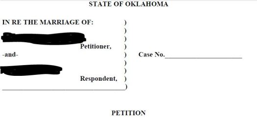 uncontested divorce petition