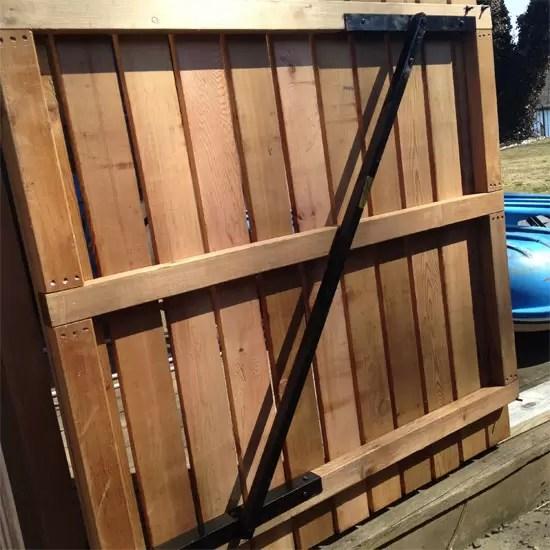 Steel Gate Brace Okc For Wood Stockade Gate