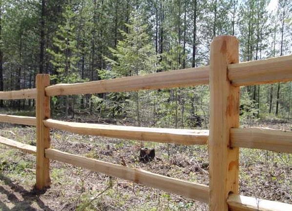 Cedar Split Rail Fence Material For Sale Okc Oklahoma