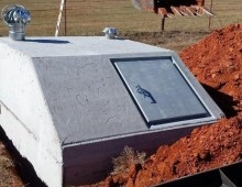 Cement Oklahoma Storm Shelter