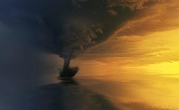 A tornado forming to hit Oklahoma City.