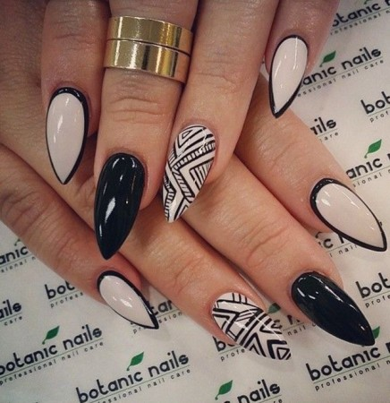 2 Pointed Acrylic Nail Designs