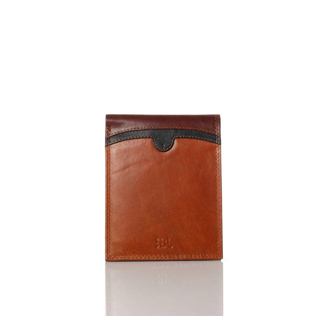 Art. 7776 Portafogli uomo coveri cuoio marrone