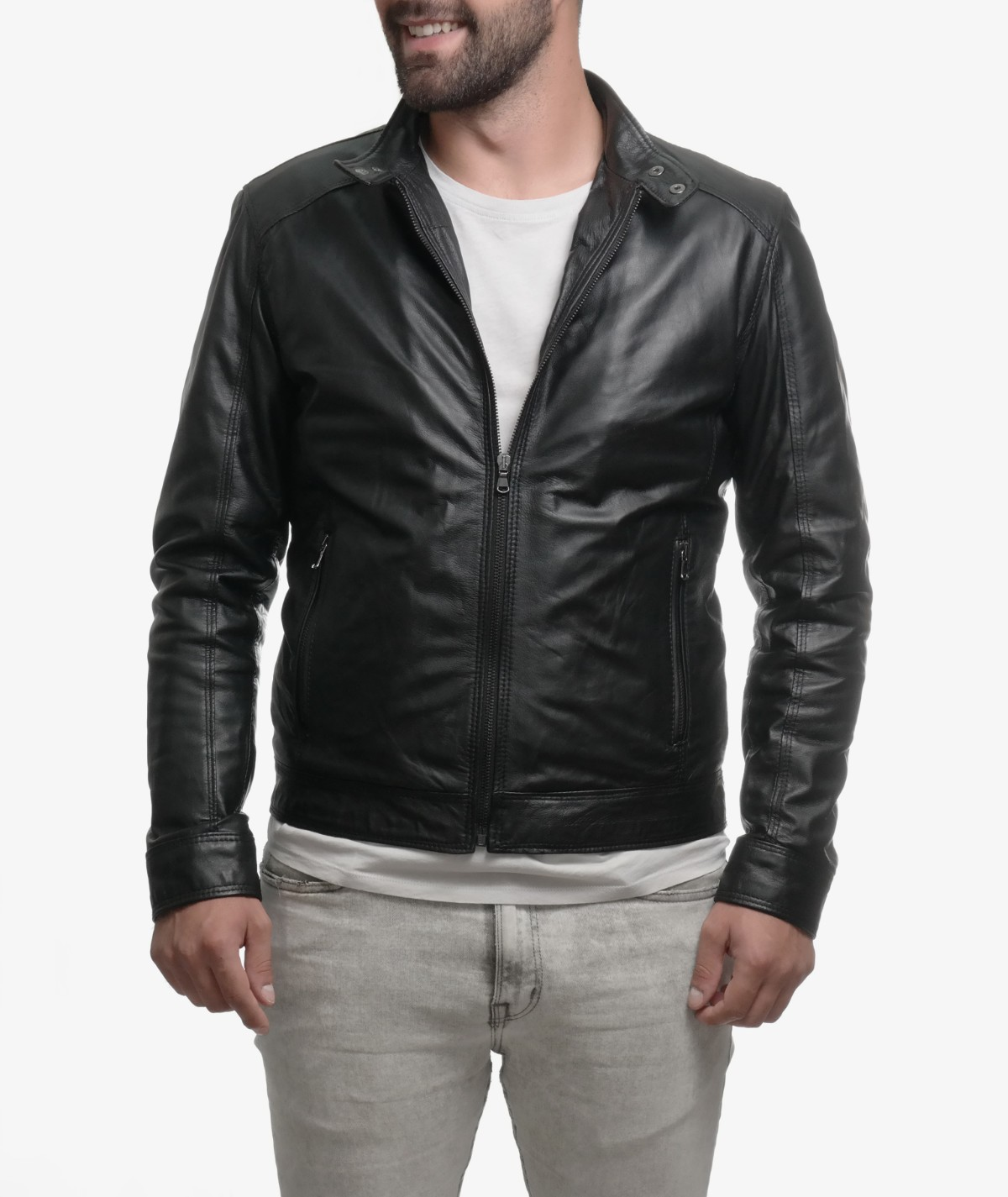 Giubbotto Biker Pelle Leather The Vera Okpelle Washed Shop In Market rvqxrSwZ