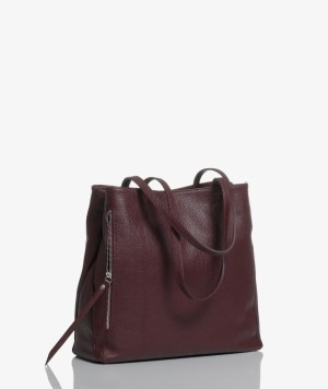 Sac plat bag in pelle bordeaux
