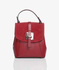 borsa zainetto elegante rossa