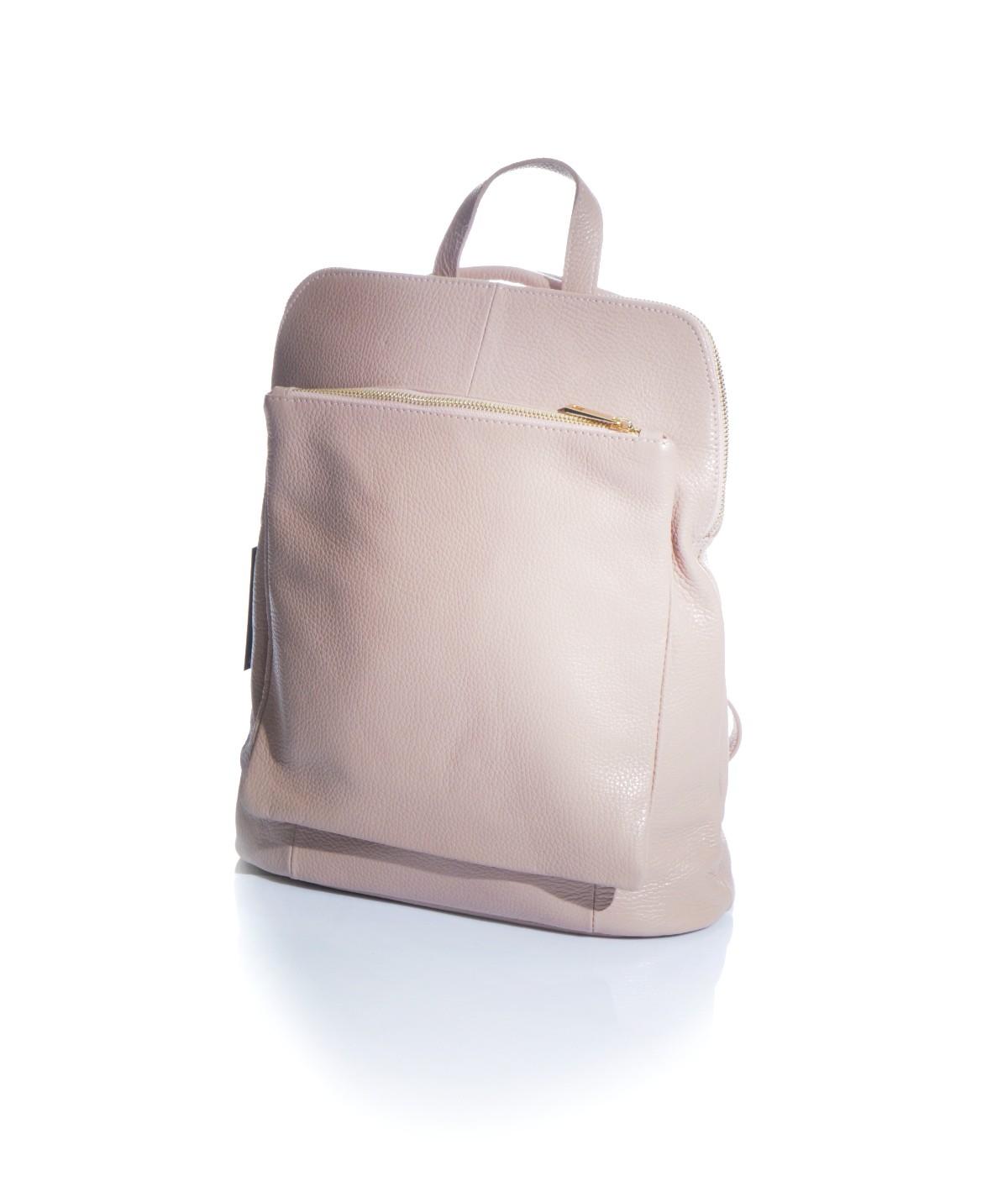 c4ec4e8acc Zainetto rosa cipria in vera pelle |Shop online| Okpelle The Leather ...