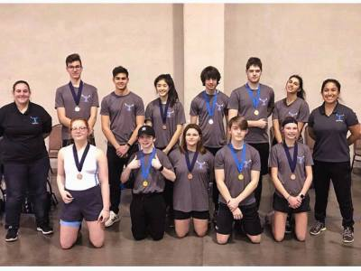 OKC Riversport Indoor Challenge Tulsa Youth Rowing Association Team Photo