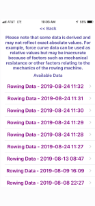 Rowing STEM app iOS gROW Tulsa Rowing Data