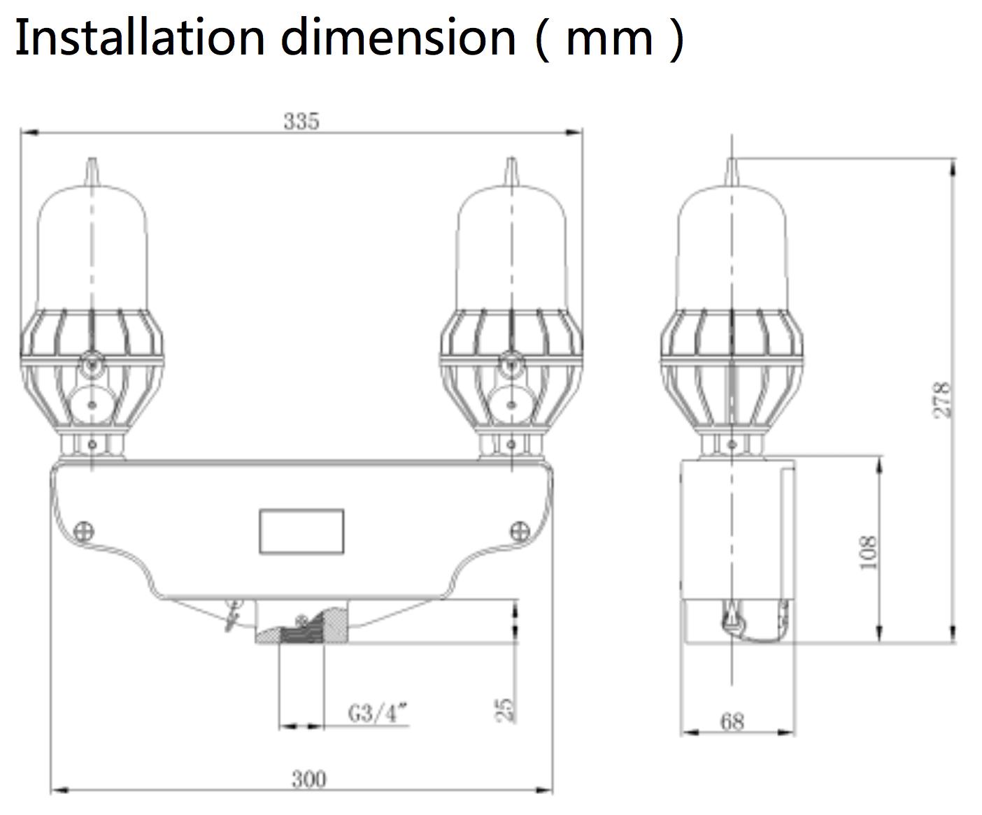 Led L810 Obstruction Light 12vdc