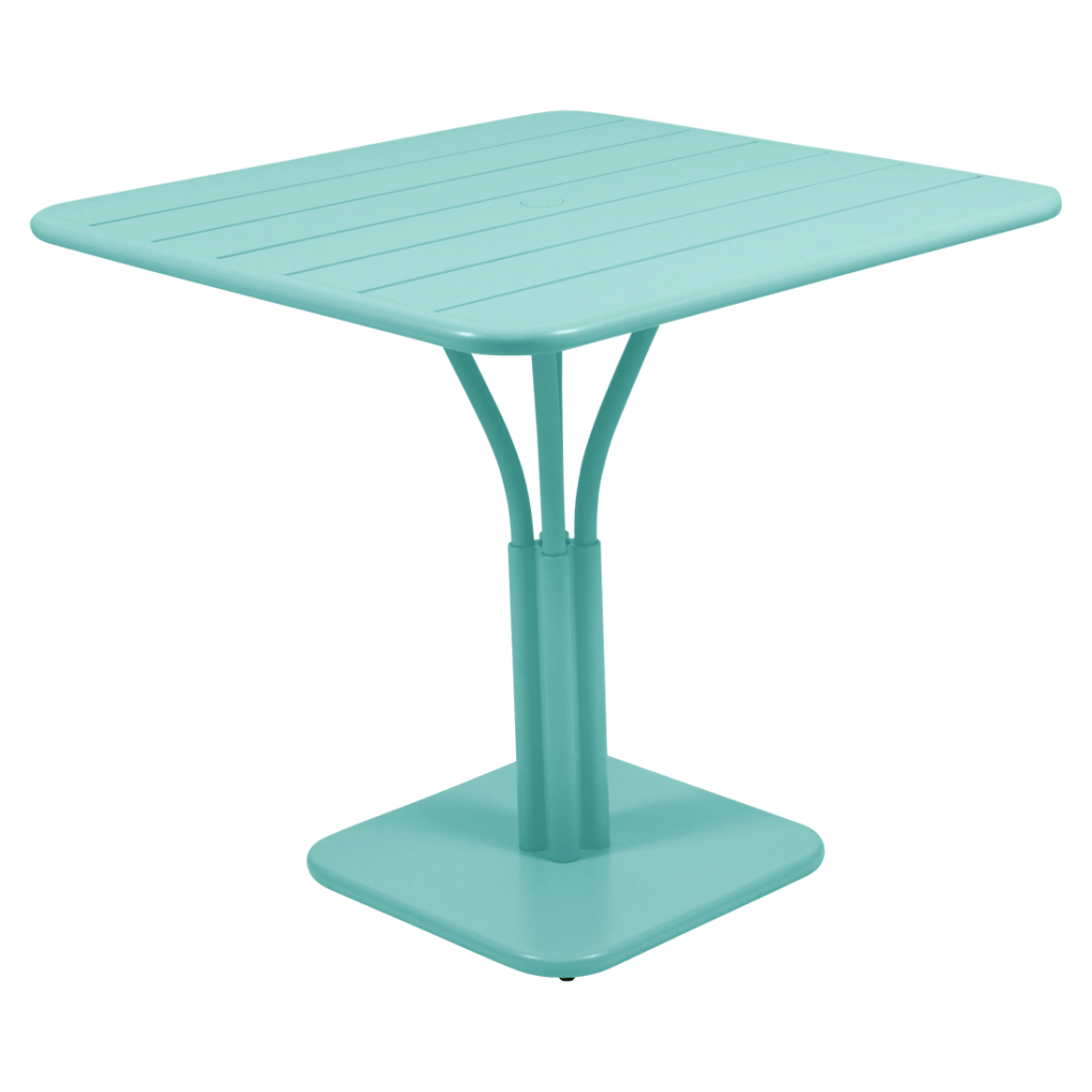table 80x80 cm pied central fermob
