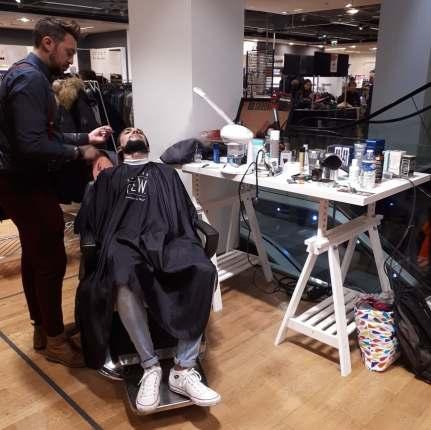stand barber avec Fabio