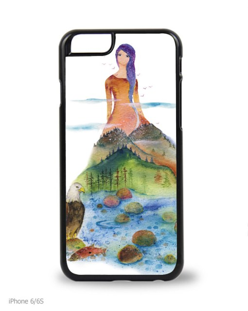 Watercolour Phone Case Lady