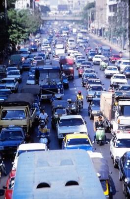 les fameux bouchons de Bangkok