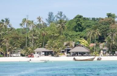 La plage de Phi Phi Don (celle de notre hôtel)