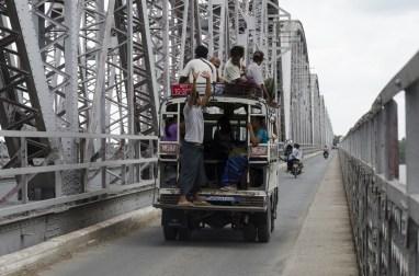 Le pont, construit par les anglais