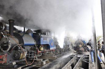 Préparation de la locomotive