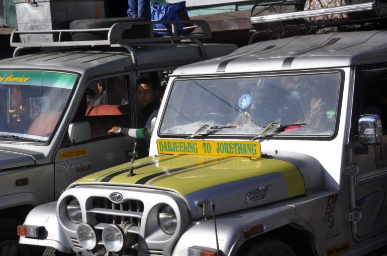 Jeep, le seul moyen de transport dans cette région