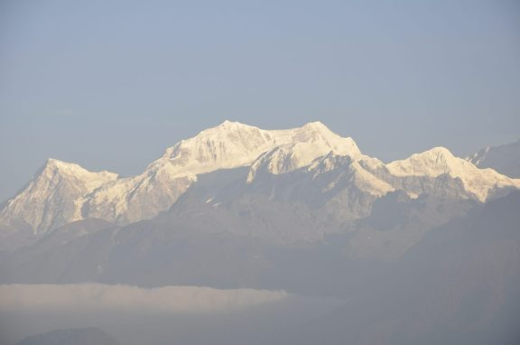 Khangchendzonga, vu de l'hôtel