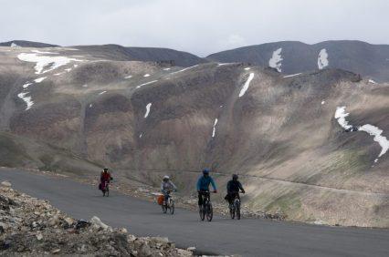 Courageux cyclistes