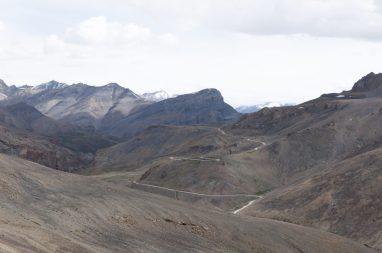 route vers le col Lachuglang