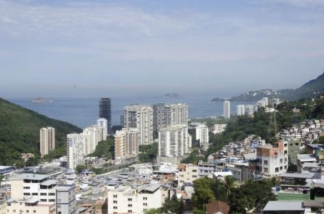 vue depuis le haut de la favela