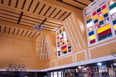 L'intérieur de la gare