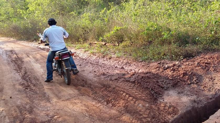 En moto Santa Anna vers san Ignacio (aucun autre transport !)