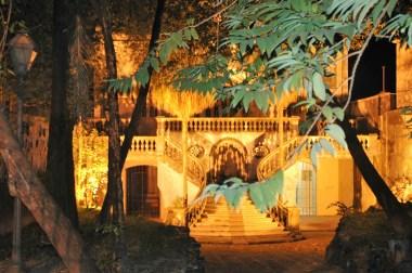 Sao Luis la nuit , un palais décrépi