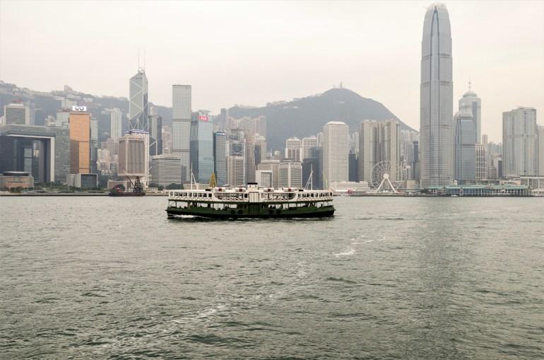 Hong Kong island, et le peak