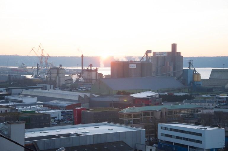 Brest: le port le matin