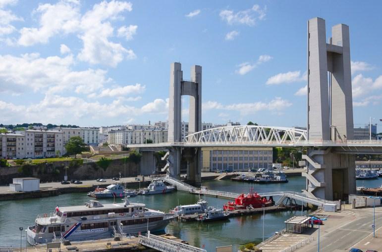 Brest le pont de Recouvrance