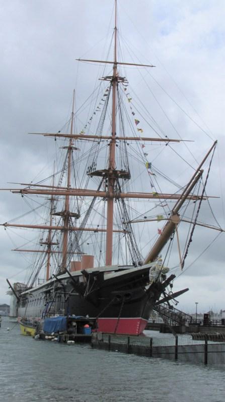 Portsmouth: les vieux bateaux-musée