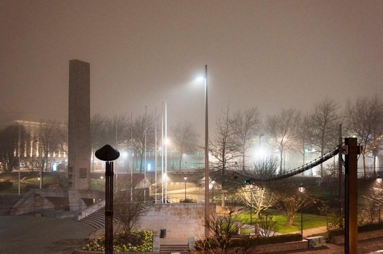 Brest: place d la Liberté la nuit
