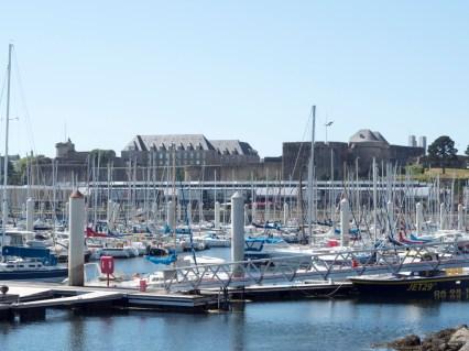 Brest port de plaisance et château