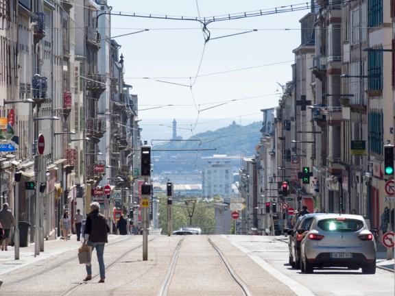 Brest: vue depuis le haut de la rue J. Jaurès