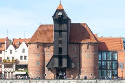Gdansk quai Motlawa : la vieille grue