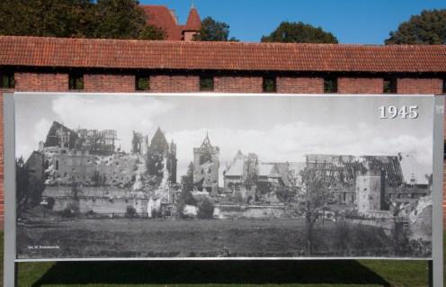 château de Malbork en1945