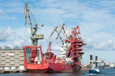 vers Westerplatte : les chantiers naval de Gdansk