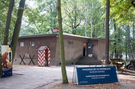 Westerplatte : casemate polonaise attaquée le 1-1-39