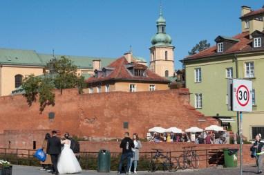 Varsovie: fortifications entourant la vieille ville