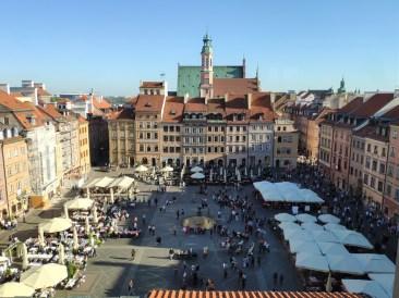 Varsovie grand place (de la vieille ville)
