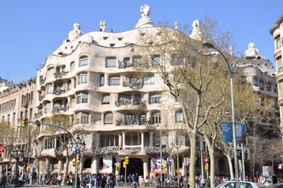 Barcelone. Immeuble de style Gaudi