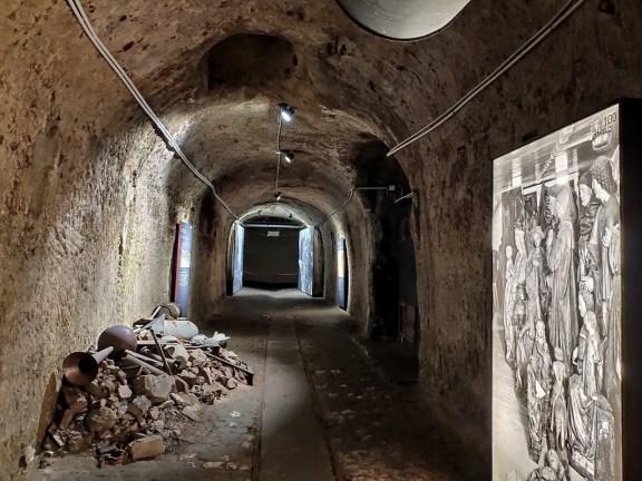 Nuremberg souterrains où étaient stockés les œuvres d'art pendant les bombardements