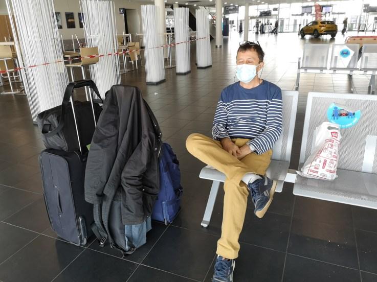 sur le départ Brest airport