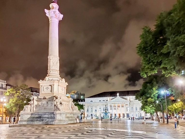 Lisbonne: Baixa place Dom Pedro IV