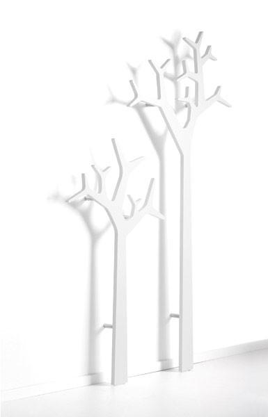 Tree stumtjener til væg - Hvid